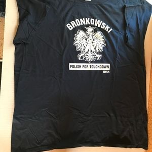 Men's Size XXL Polish for Gronkowski New T-Shirt